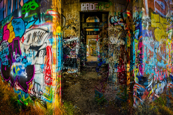 Graffiti Underground River Entrance Fine Art Photograph | JustBob Images