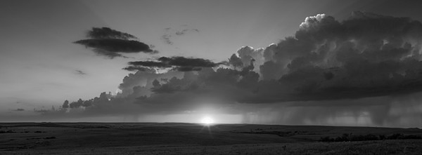 STORMS OVER THE PRAIRIE - bw