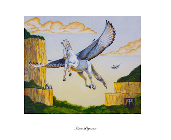 Mesa Pegasus Magic the Gathering limited edition print