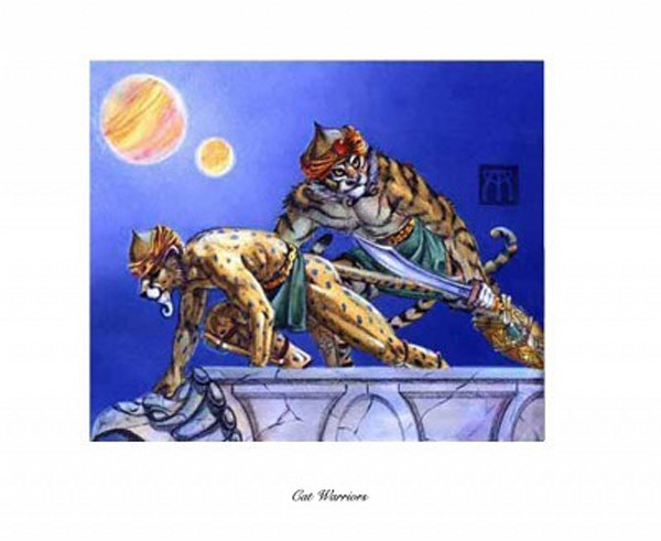 Cat Warriors Magic the Gathering limited edition print