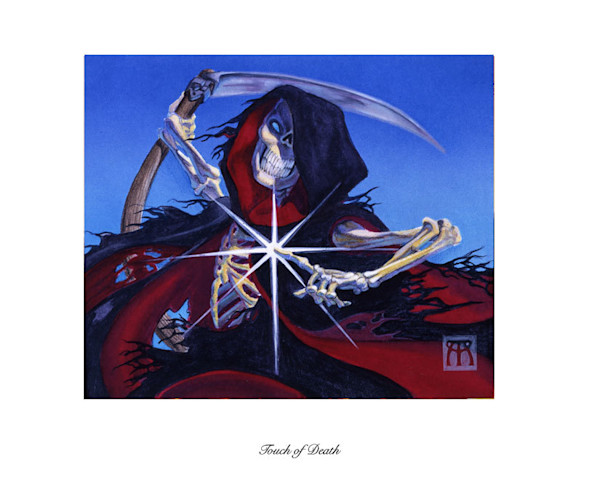 Touch of Death Magic the Gathering limited edition print
