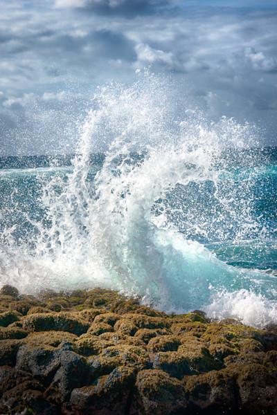 Water Whip Fine Metal Print Kauai