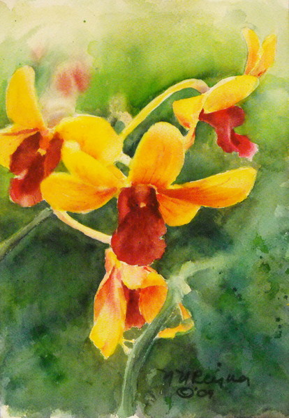 Orchids Art- Original Paintings Fine Art Prints on Canvas, Paper, Metal and More