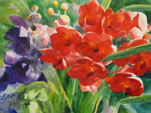 Red Vandas Art for Sale