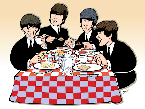 Beatles Breakfast, by Anthony Parisi, Limited Edition Print