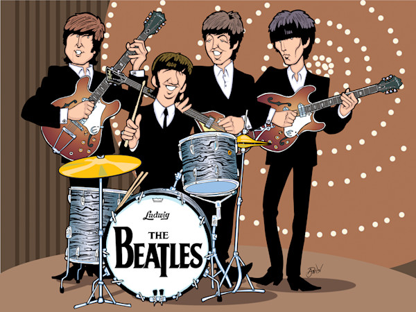 Beatles Top of The Pops, by Anthony Parisi, Limited Edition Print