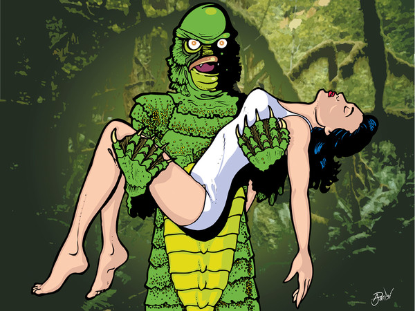 Creature from the Black Lagoon, by Anthony Parisi, Limited Edition Print