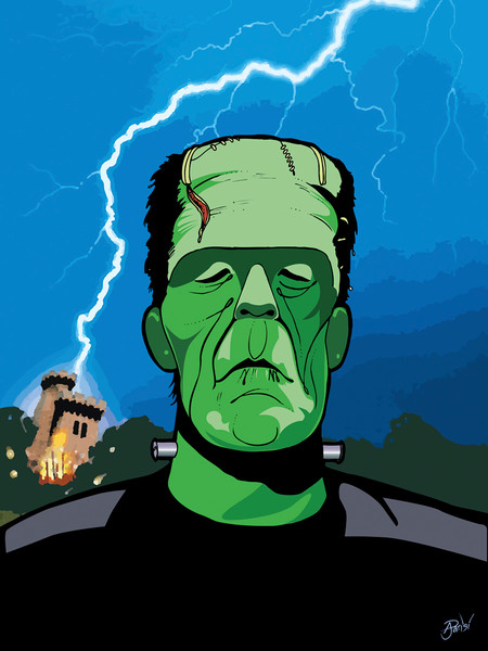 Frankenstein 1931, by Anthony Parisi, Limited Edition Print