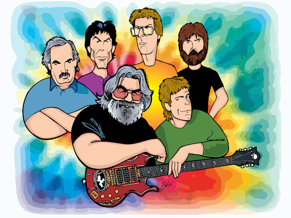 Grateful Dead, by Anthony Parisi, Limited Edition Print