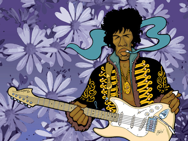 Jimi Hendrix, by Anthony Parisi, Limited Edition Print