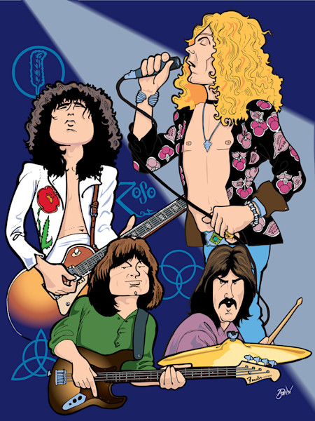 Led Zeppelin, by Anthony Parisi, Limited Edition Print