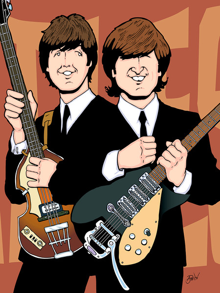 Lennon McCartney, by Anthony Parisi, Limited Edition Print