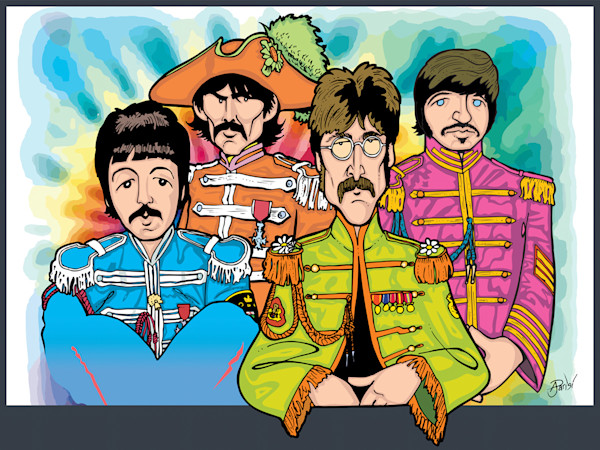 Beatles Sgt. Pepper, by Anthony Parisi, Limited Edition Print