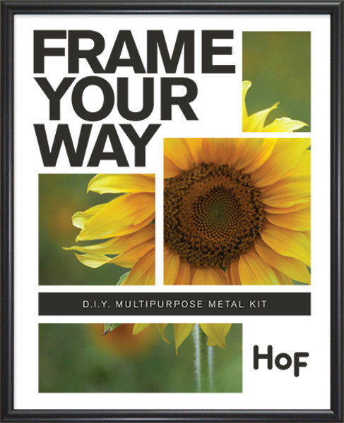 Metal Kit Frame - 8.5 x 11 - Frosted Black