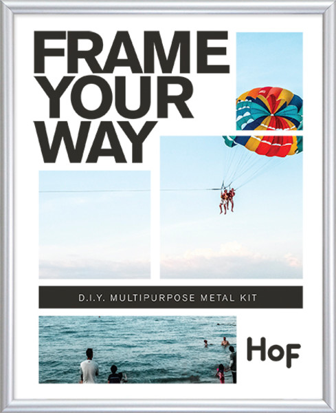Metal Kit Frame - 8.5 x 11 - Frosted Silver