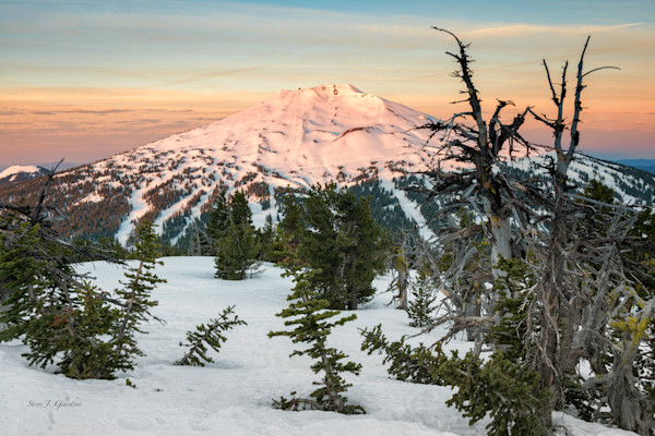 Bachelor Alpenglow (161421LND8) Mt. Bachelor Photograph for Sale as Fine Art Print
