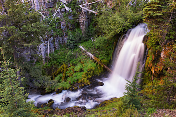 Bridge Creek Falls (161479LNND8) Scenic Waterfall Photograph for Sale as Fine Art Print