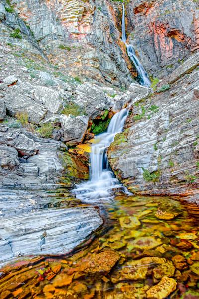 Apikuni Waterfall (131014NWND8) Photograph for Sale as Fine Art