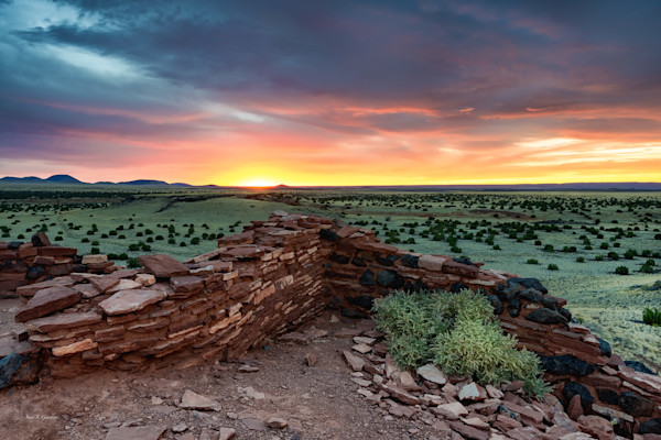 Nalakihu Pueblo Ruins II (131283LND8-SI) Photograph for Sale as Fine Art