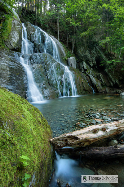 Vermont waterfall fine art prints/Green Mountain state nature photography