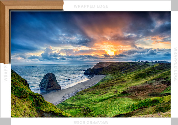 Cape Blanco Sunset (151172LND8-P) Photograph for Sale as Framed Canvas Fine Art Print