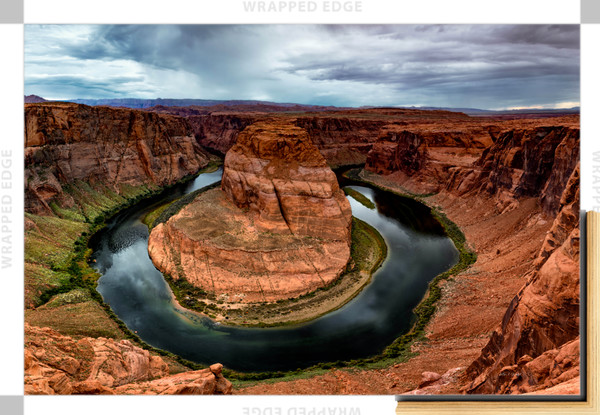 Horseshoe Bend (151323LND8-SI) Photograph for Sale as Framed Canvas Fine Art Print