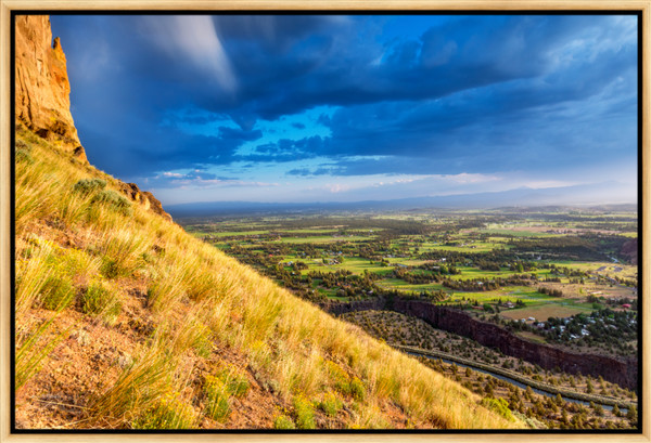 Valley View Storm (161456LND8) Photograph for Sale as Framed Metal Print