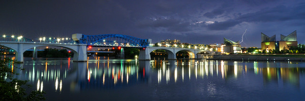 Market Street Bridge & Storm Panorama
