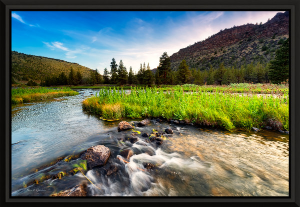 Lower Crooked Flow (151214LND8) Photograph for Sale as Framed Metal Print