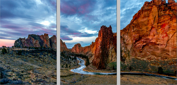Sunrise Smith Rock (131042LND8-SI) Smith Rock State Park by Steve J. Giardini
