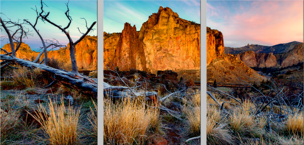 Rock Wall Sunrise (131039LND8-SI) Smith Rock State Park Steve J. Giardini