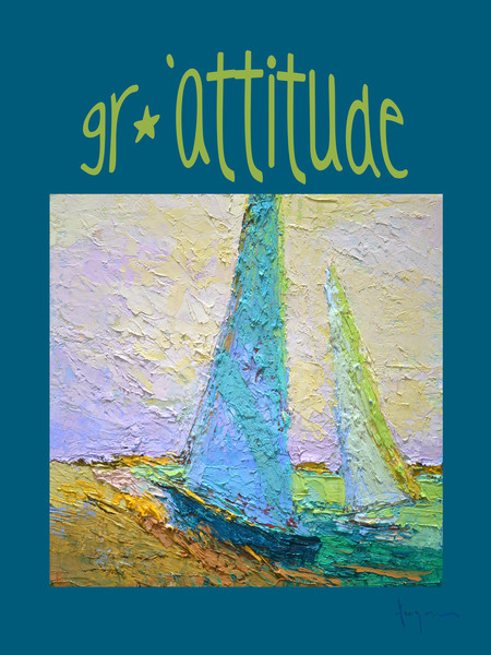 Gratitude Wall Graphic | Sailboats & Clouds
