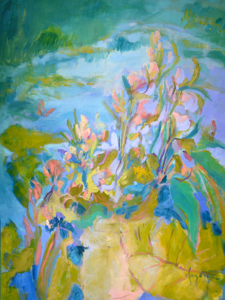 A Pond of My Own | Water Lillies Fine Art Print on Canvas or Watercolor Paper, Dorothy Fagan Collection