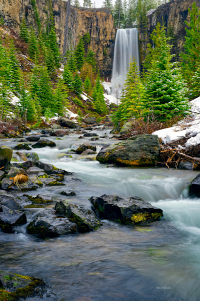Tumalo Falls Spring (131112LND8) Photograph for Sale as Fine Art Print