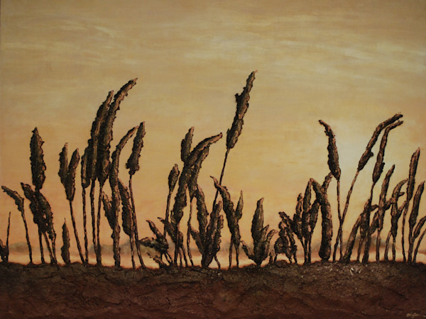 Morning on the Marsh, a print of artist Alison Galvan's fusion art landscape painting.