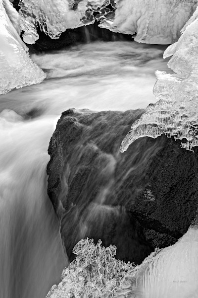 Frozen Flow (131125NWND8) Photograph for Sale as Fine Art Print