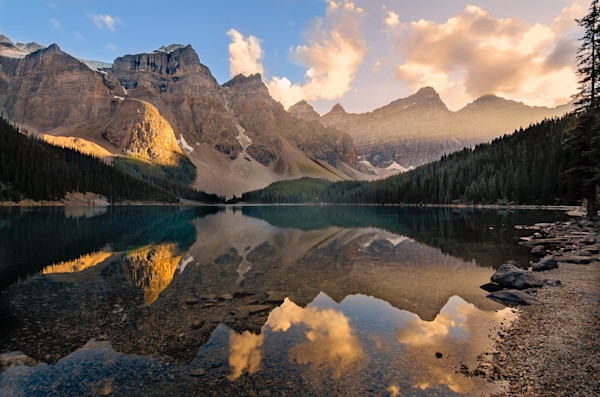 Moraine Lake Evening Photograph for Sale as Fine Art.