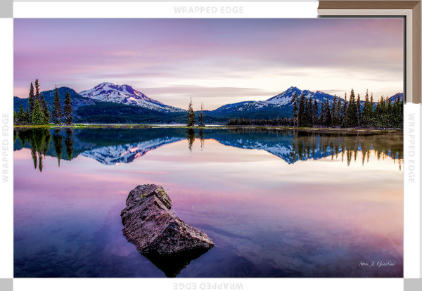 Morning Peaks (141079LND8-SI) Photograph for Sale as Framed Canvas Fine Art Print