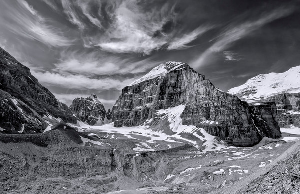 Plain of six glaciers. |Banff National Park| Canadian Rockies|Rocky Mountains|