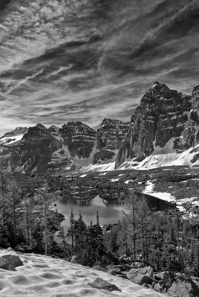 Eiffel Lake in the Valley of the 10 Peaks.