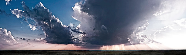 Storm in the East, the Kansas Flint Hills - color