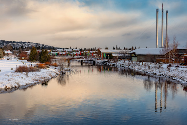 Winter Mill Sunrise (151372LND8-S) Photograph for Sale as Fine Art Print