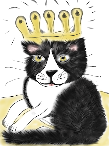 Miles The Cat Dreamed He Was King
