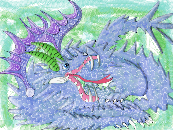 Aggravaticus Dragon (Aggie) and Zoey Fine Art Print