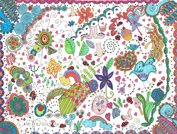 Find The Ladybugs and the Letter A Doodle