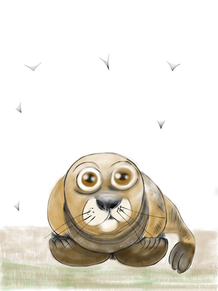 Clarence The Seal Fine Art Print