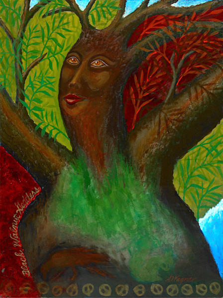 Black Walnut Tree Goddess