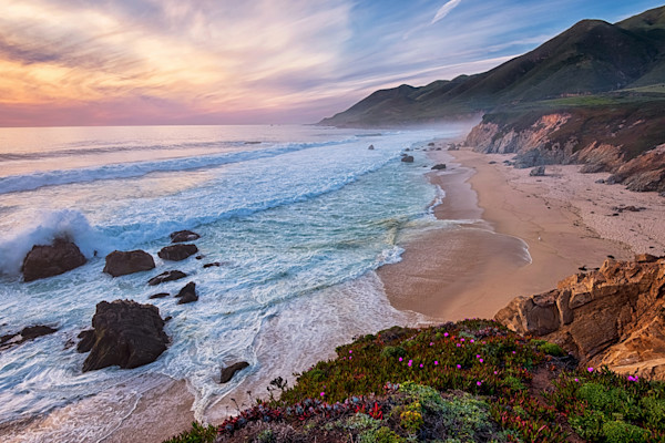 California Big Sur Sunset Photographs Wall Art Decor.
