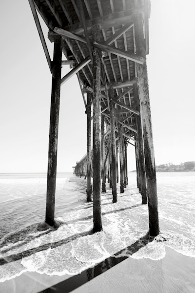 San Simeon Pier California Coast Black and White Photographs Wall Art.