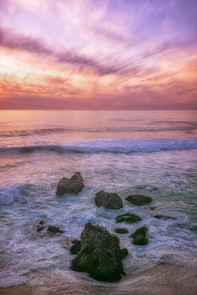 BIg Sur Sunset Beach Photographs Wall Art Decor.